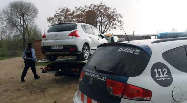 El coche ha sido localizado en Palafolls. Foto: El Malgratenc