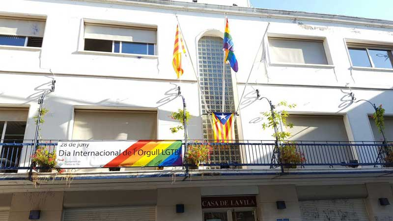 La fachada del Ayuntamiento de Premià de Mar, este martes, 28 de junio