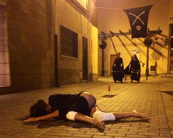 La fiesta recrea la epidemia de peste del siglo XVII