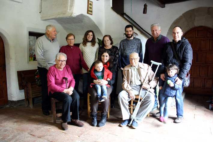 Josep Guinart, acompañado de su familia