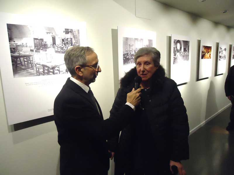 El alcalde Mayoral con la exdirectora de Can Pedrals, Mercè Guasch
