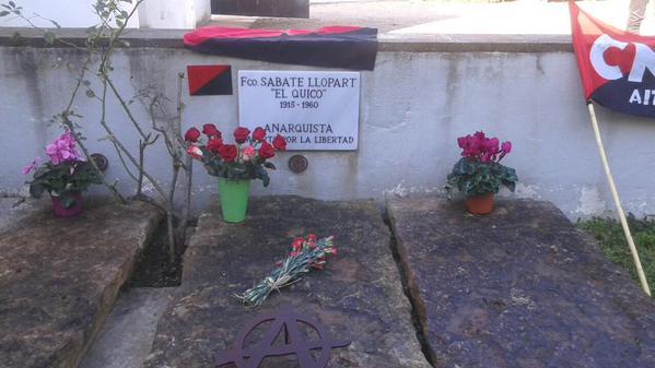 La tumba de Sabaté en Sant Celoni
