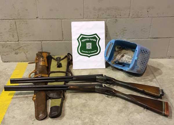 Los Agentes Rurales les intervinieron las escopetas