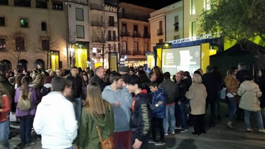 Aspecto de las calles en la Open Nigth del 2015