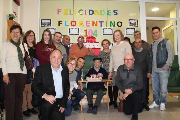 El pasado 14 de marzo Florentino Mate Arévalo, de Corró d'Avall, cumplió 104 años