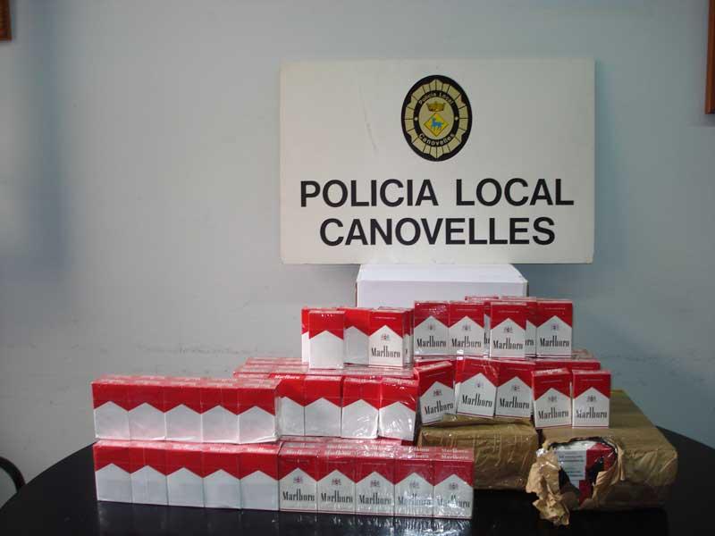 Todo el tabaco requisado por la policía de Canovelles