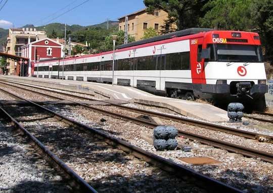 Un tren en la estación de La Garriga. Foto: Ajt de La Garriga