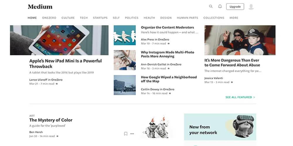 Revista Digital On-line: Recorte do site Medium