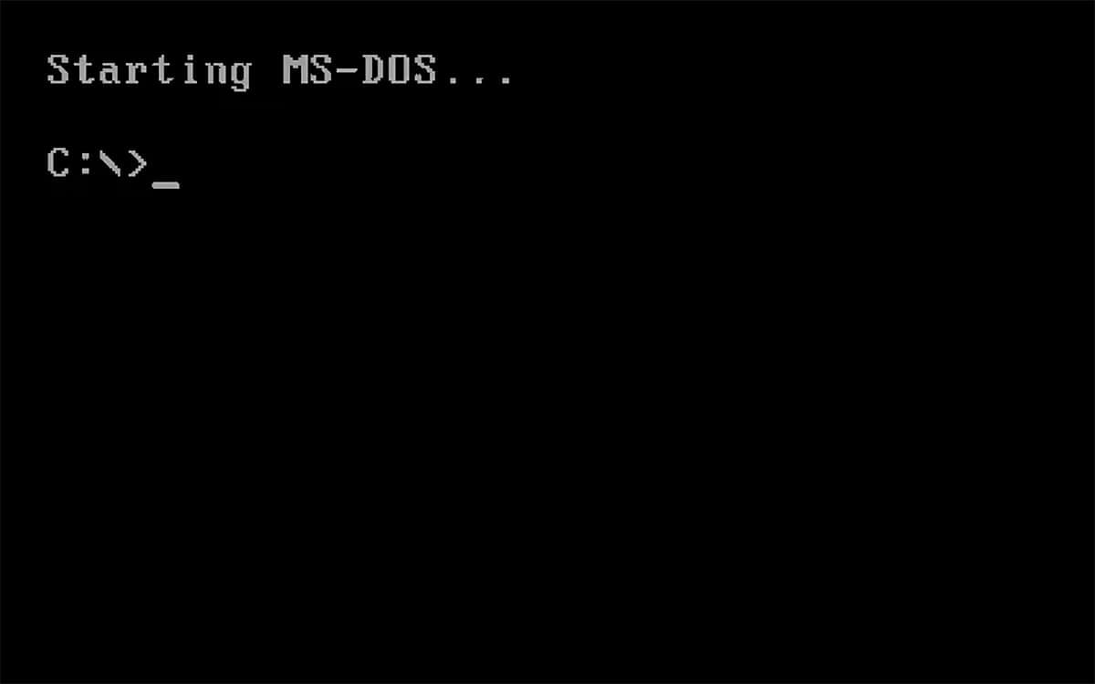 Tela do MS-DOS