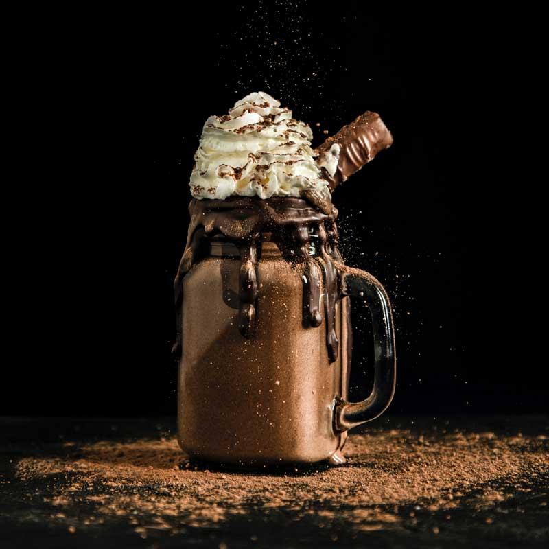batido de cacao, chocolate