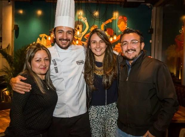 Lizzeth Cardenas, Mario Valles, Alexandra Rueda y Camilo Colunge.