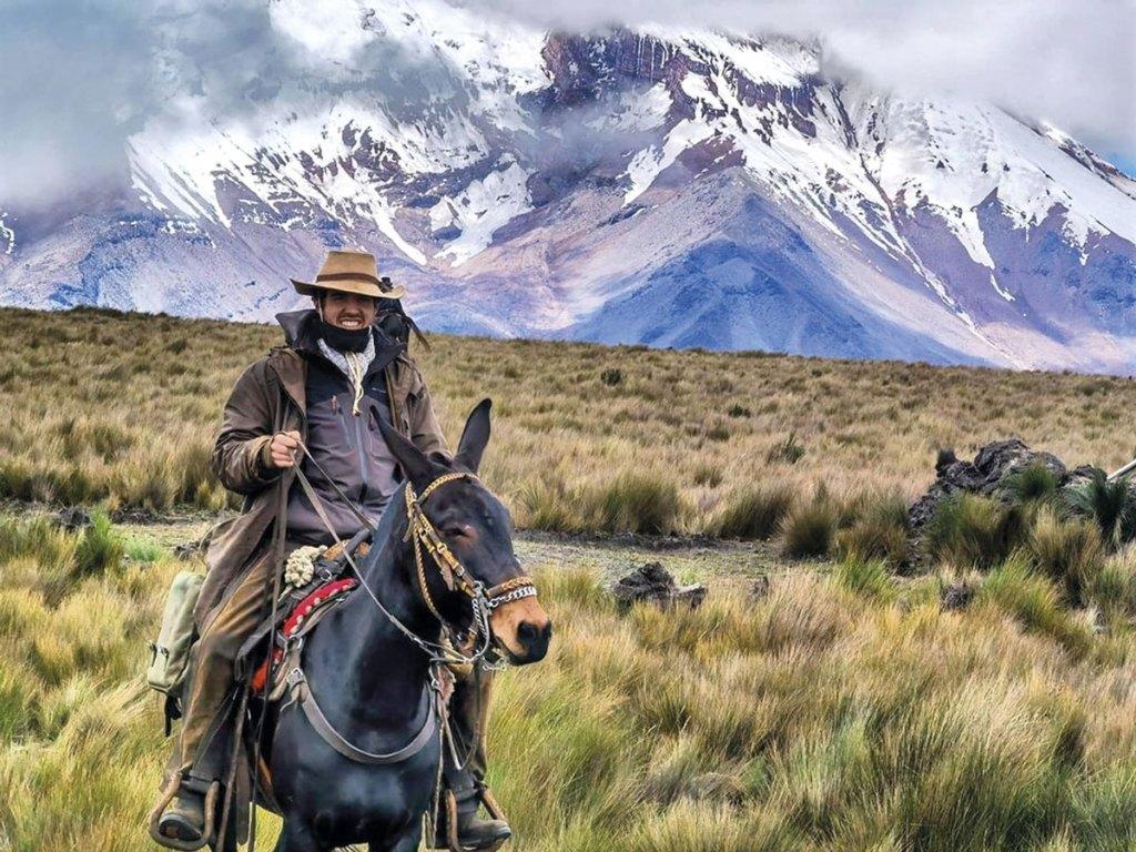 viajar en mula por Suramérica