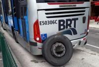 BRT do Rio teve roda solta no bairro de Madureira, apesar do susto ninguém se feriu