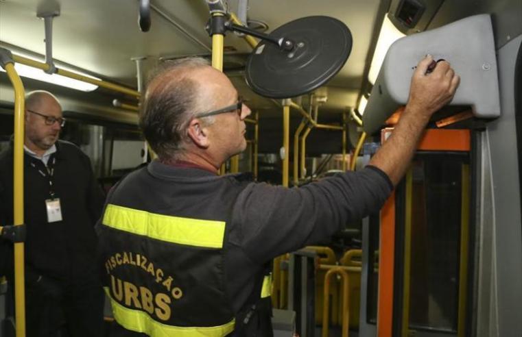PR: Fiscalização em Curitiba encontra diversas irregularidades nos ônibus