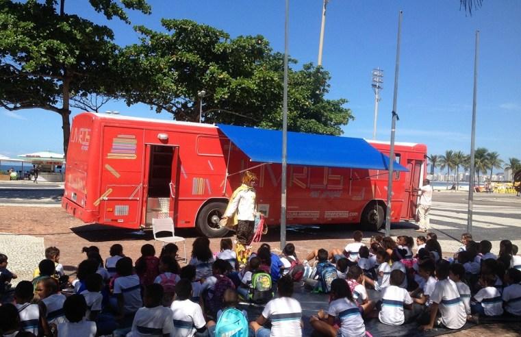 Ônibus biblioteca atenderá o Rio e a Baixada a partir do dia 8