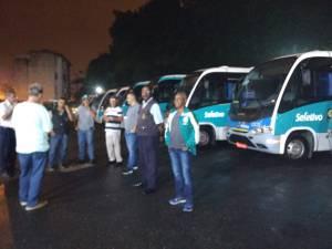 Em Santos, motoristas de ônibus seletivo seguem em greve