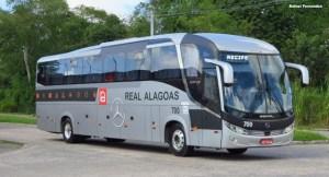 Real Alagoas testa novo ônibus com chassi Mercedes-Benz