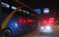 Bandido acaba baleado em assalto a ônibus da Viação Cometa na Castelo Branco