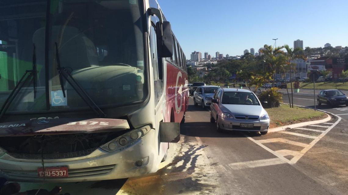 Ônibus da Expresso Gardenia pega fogo no interior de São Paulo