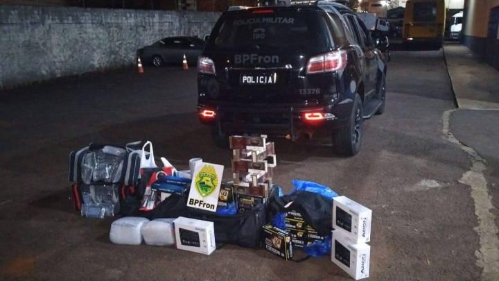 Polícia apreende produtos contrabandeados na Rodoviária de Cascavel