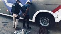 PRF apreende 62kg de drogas em dois ônibus na BR-060