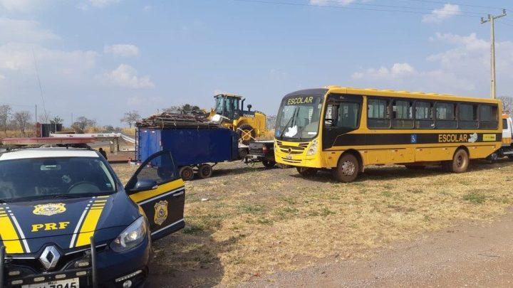 MT: ônibus escolar é apreendido pela PRF devido irregularidades na BR-364