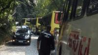 RJ: Ônibus da Trel quebra e fecha a Serra Velha por 3 horas em Petrópolis