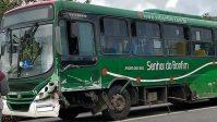 Acidente entre ônibus e carro deixa feridos na BR-101 em Angra dos Reis