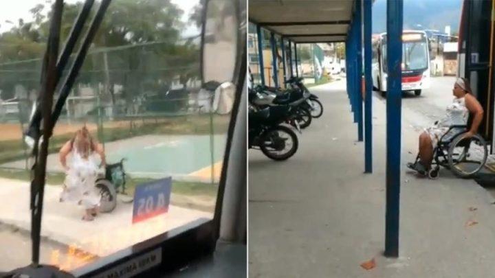 Mulher finge ser cadeirante para não pagar passagem no Rio e vídeo viraliza
