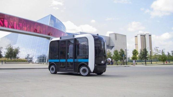 Ônibus autônomo é criado com impressora 3D