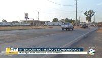BR-163: Trevão de Rondonópolis terá interdição neste domingo