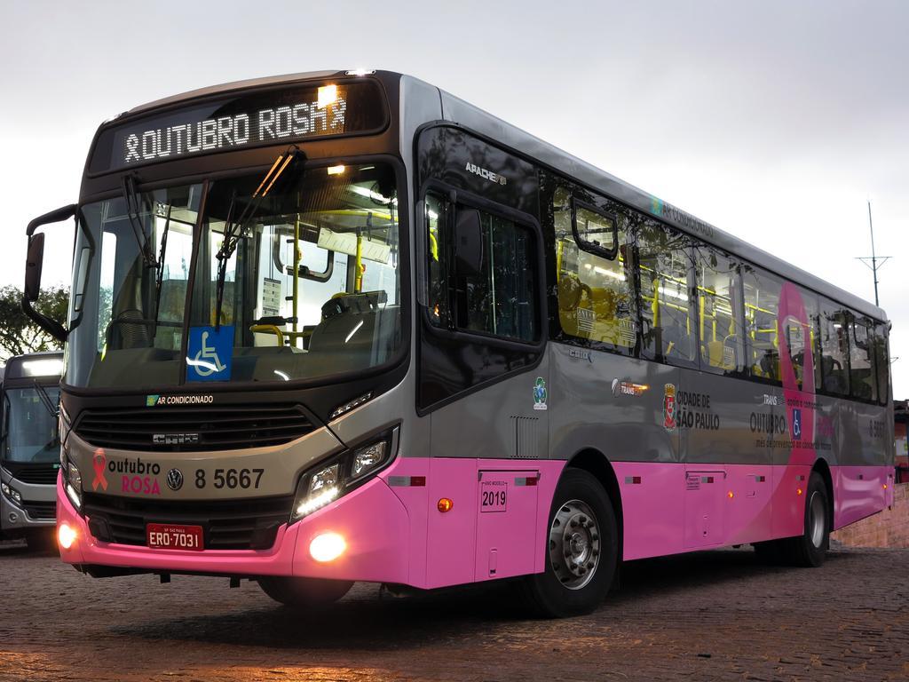 Auto Viação Transcap inicia campanha Outubro Rosa em São Paulo