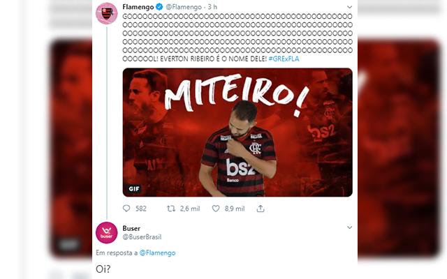 Conta do Buser no twitter 'debocha' de gol anulado e irrita flamenguistas na internet