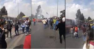 Bogotá: Vídeo de ônibus da Transmilenio incendiado é de 2014 afirma Consórcio