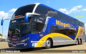 RS: Ônibus da Mingoti Turismo volta ser alvo de vandalismo