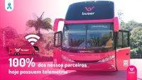 Buser anuncia telemetria em 100% da frota de ônibus fretados no Brasil