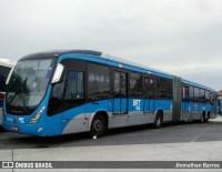 Ônibus do BRT Rio atropela ciclista na Zona Oeste da cidade