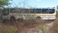 Ônibus escolar com 25 alunos sai da pista na BR-343