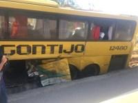 MG: Acidente com ônibus da Gontijo e caminhão deixa 4 feridos na BR-381