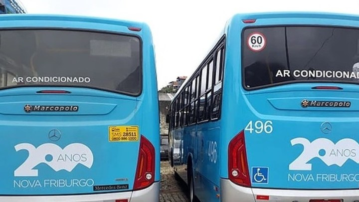RJ: Chuva altera linhas de ônibus em Nova Friburgo
