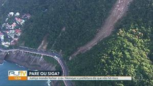 Rio: Avenida Niemeyer segue interditada pela Justiça