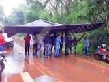 Protesto fecha estrada que dá acesso a Cataratas argentinas