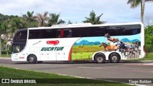 RS: PRF apreende cigarro contrabandeados do Paraguai em ônibus da Eucatur na BR-386