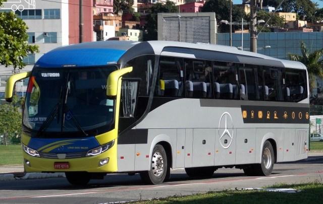 Viação Lírio dos Vales testa ônibus Comil Mercedes-Benz