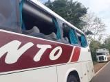 RS: Acidente com ônibus da Viação Bento e carreta chama atenção