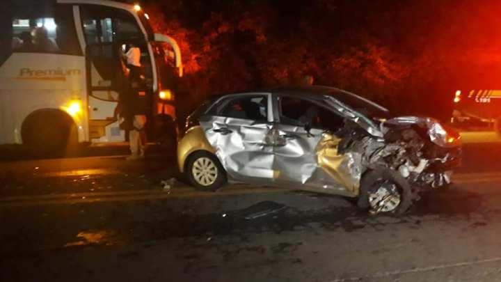 MG: Acidente com ônibus da Gontijo e dois veículos deixa 5 feridos na BR-116