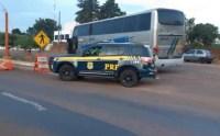 PRF prende Condenado por estupro em ônibus que seguia para o Paraguai na BR-376