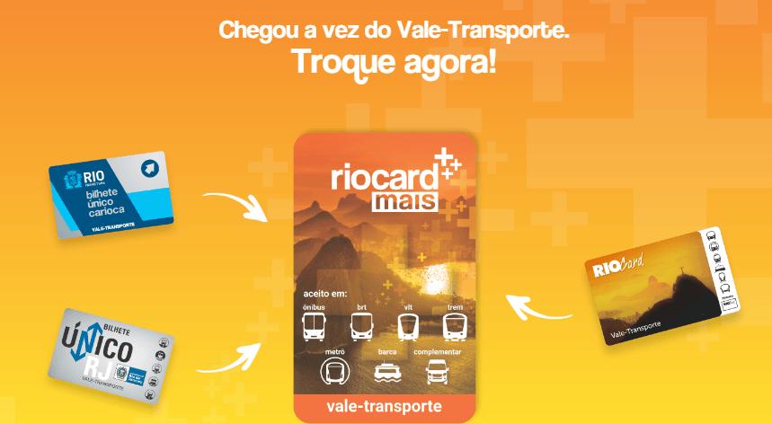 Bilhete Único Carioca, Cartões Riocard, e Bilhete Unico Rio de Janeiro já podem ser trocador pelo Riocard Mais