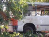 Acidente com ônibus deixa motorista ferido na PR-492
