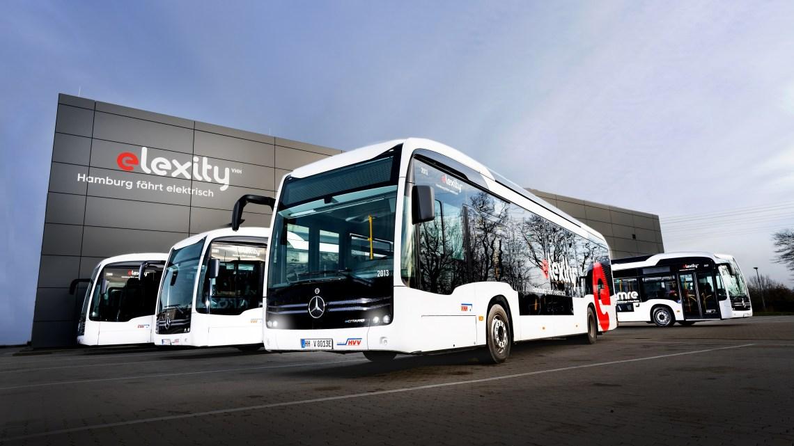 Daimler entrega 16 ônibus elétricos eCitaro para a cidade de Hamburgo na Alemanha